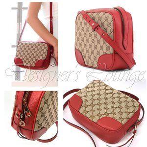 NEW GUCCI Bree Guccissima GG Canvas Crossbody Bag